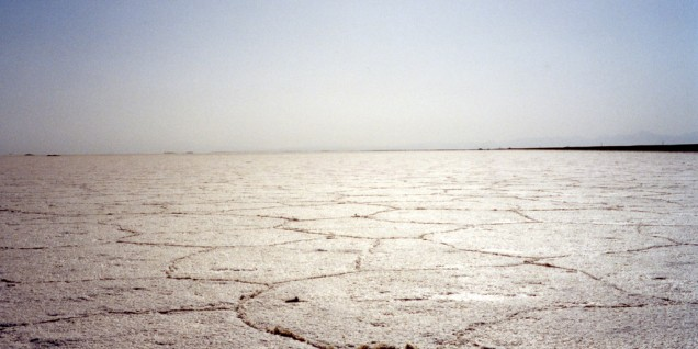 Salt desert Iran