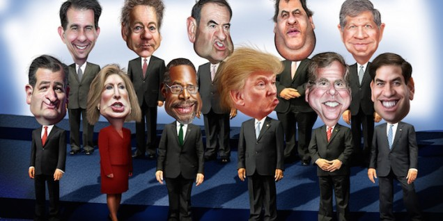 republican debate cartoon