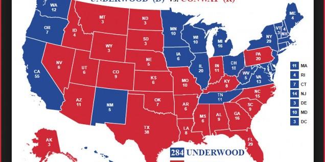 electoral map Underwood